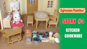 sylvanian families open kitchen cookware set cosy cottage