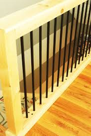 Space Between Stair Spindles by Diy Stair Handrail With Industrial Pipes And Wood