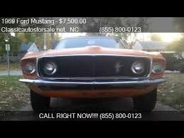 1969 mustang grande value 1969 ford mustang grande for sale in nationwide nc 27603 at