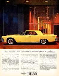 1961 lincoln continental ad classic cars today online
