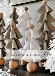 layered felt trees easy diy projects felt tree and felting
