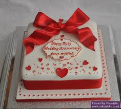 ruby wedding cakes ruby wedding anniversary cake anniversary cakes