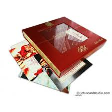 Indian Wedding Card Box Indian Wedding Invitation Bo Wedding Invitations