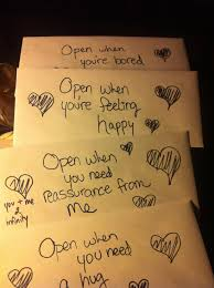 how to write u201copen when u201d letters for your significant other