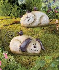 Cat Garden Decor Whimsical Garden Statues Outdoor Decor Resting Cat Stone Sculpture