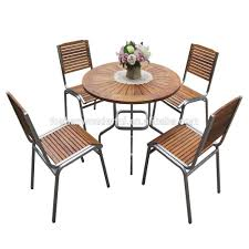 Teak And Stainless Steel Outdoor Furniture by Outdoor Furniture Set Teak Stainless Steel Garden Furniture