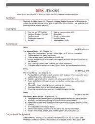 Sample Nanny Resume Ideas by Nanny Resume Template Nanny Resumes Resume Badak Best Nanny Resume