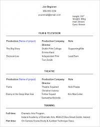 Excel Resume Template Invoice Template Actor U2013 Robinhobbs Info