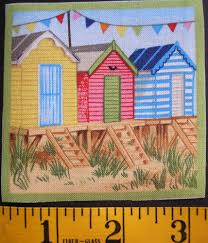 seaside beach houses retro fabric appliques from annie u0027s porch