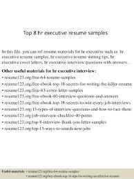 Hr Manager Resume Sample Top 8 Hr Executive Resume Samples 1 638 Jpg Cb U003d1429946469