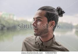 hair buns for hair attractive hair bun stock photo 530193793