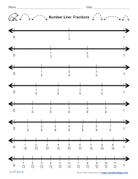 printable numbers lines math kindergarten number line fraction worksheet grapher printable