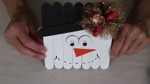 bowdabra kids craft popsicle stick snowman youtube