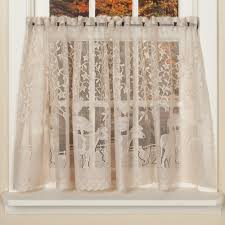 Lace Curtains Whimsical Country Style Curtains With Farm Animals Sturbridge