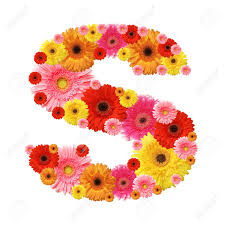 S Flower Alphabet S Lower Case Character Stock Photo Picture And