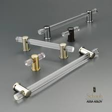 schaub cabinet pulls and knobs schaub company s lumiere collection of lucite cabinet hardware