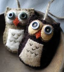 felt owl ornaments arts crafts and design finds