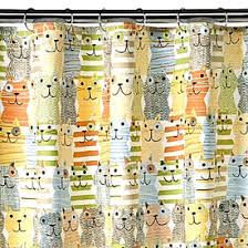 meow shower curtain plus cat hooks colorful cat themed quality 100