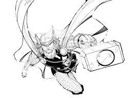 Thor 14 Superhéros  Coloriages à imprimer