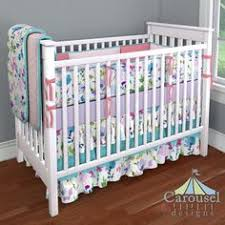 Solid Pink Crib Bedding Custom Nursery Bedding Carousel Designs Unique Baby And Baby