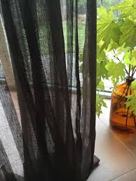 Brown Linen Curtains 102 Wide Curtain Panel Linen Curtain Brown Curtains Sheer