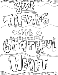 coloring thankful quotes doodle alley