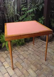 Wooden Folding Card Table Wood Folding Card Table Beautifully Aged Vintage Wood Folding