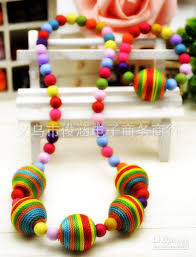 resin bead necklace images Children jewelry set girl resin beats necklace and bracelet set jpg