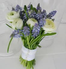 blue wedding bouquets blue bridal bouquets