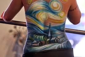 vincent van gogh starry night tattoos foe modish girls