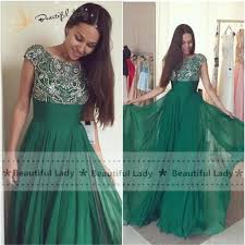 aliexpress com buy elegant long evening dress green color 2017