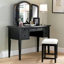 Glass Mirrored Bedroom Set Furniture Retro White Wooden Polished Vanity Mirrored Desk With Drawers