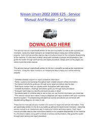 ford focus 2000 repair manual nissan urvan 2002 2006 e25 service manual and repair car service