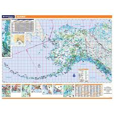 Sitka Alaska Map Alaska Laminated State Wall Map