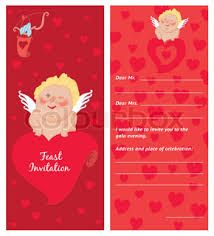cupid with a letter valentine s day postcard invitation