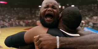 Crying Face Meme - lebron james face changes to that of a crying baby and then back