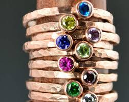 mothers rings 4 stones copper gemstone ring etsy