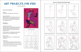 how to draw like paul klee art projects for kids