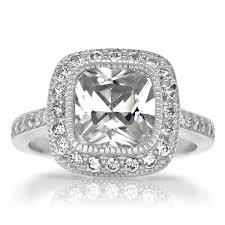 Vintage Style Cushion Cut Engagement Rings Cushion Cut Diamond Vintage Heirloom Antique Engagement Ring Jpg