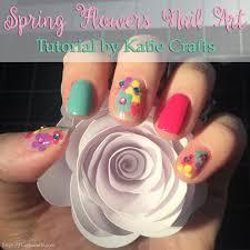 spring flowers nail art