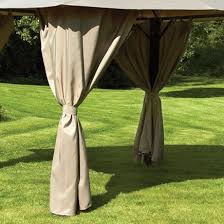 Gazebo Curtains Replacement Curtains For Venice Heavy Duty Rectangular Gazebo
