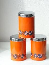 orange kitchen canisters vintage enamel dutch sugar canister orange enamel canister