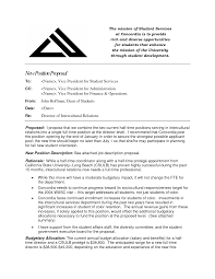 Proposal Cover Letter Examples Best Photos Of Creating A New Job Position Proposal New Job