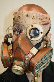 prosthetic halloween mask steampunk fantasy bald cap respirator mask airbrush prosthetics