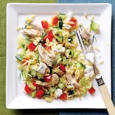 Chicken Main Dish - lemony orzo veggie salad with chicken recipe myrecipes