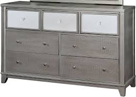 classy black and silver dresser for your aida bedroom set black