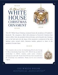 2017 white house christmas ornament defense credit union council