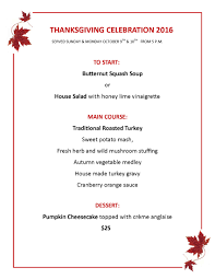 thanksgiving lunch menu simonholt thanksgiving celebration 2016 simonholt restaurant