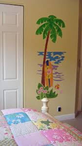 30 best tons of trees images on pinterest wall murals paint by this simple palm tree and surfboard will add just the right touch with this paint by number wall mural from elephants on the wall just tape trace paint