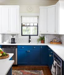 electric blue kitchen cabinets kitchen decorating and design ideas better homes gardens